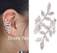2014 New Fashion Punk Rock Retro Earring Crystal Leaf Ear Cuff Warp Clip Ear Stud -Right Side