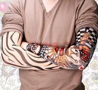 Nylon Stretchy Fake Temporary Tattoo Sleeves Fashion Art Arm Sleeves 2pcs