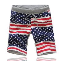 Free Shipping Men's sport Pants,Sports trousers Summer beach slacks leisure pants,American flag ,drop shipping WP46