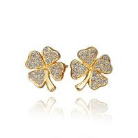 2014 new arrival wholesale free shipping 18KGP E460 18k gold earrings fashion jewelry nickel free nice earrings for women