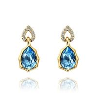 2014 new arrival wholesale free shipping 18KGP E471 18k gold earrings fashion jewelry nickel free nice earrings for women