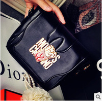 2014 hot sale Luxury Brand  Mcdonald Chips Shoulder chain Bags women messenger bags high quality PU leather handbags 2 colors