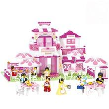 Sluban Pink Dream Series Romantic Restaurant B0150 Building Block Sets 306pcs Educational DIY Toys Bricks(China (Mainland))