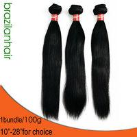 HIGH QUALITY 1bundle New Brazilian Hair Virgin Straight Black Free shipping