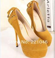 2014 new arrival fashion pumps Korean style nightclub bar shoes Ultra high 4cm platform with thin heels princess shoes XY-008