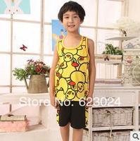 Free shipping, wholesale boys sleeveless vest Pyjamas,6sets/lot,90-140cm