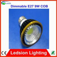 100PCS COB PAR20 Led Spotlight Bulbs 9W 550Lm Warm white 2800-3200K Dimmable Led Lamps 110V 220V CIR 78Ra Low heat Energy Saving