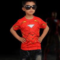 spiderman t shirt boy/ Kids superman t shirt/ Children clothing captain american/ Girl Boy T shirt Ironman