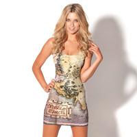 RESUN KNITTING fashion New 2014 women summer tops Fashion The Hobbit Map sexy Dress woman black milk clothings