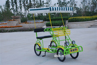 Casual double bicycle quadrics pedal sightseeing bus steering wheel car