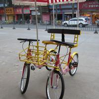 Double car four wheel bicycle steering wheel bike sightseeing car
