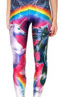 RESUN KNITTING black milk brand Digital print 2014 colorful rainbow unicorn sexy legging for women free shipping