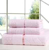 Free shipping, new 2014 three-piece bath towel towel mix, 100% cotton, three color options, jacquard beach towel