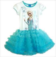 New Spring 2014 Summer dress New 2104 children Frozen dress Girl Frozen Elsa's and Anna's dress lowest price In stock Free Ship