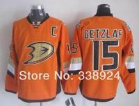 2014 Stadium Series Jerseys Anaheim Ducks hockey jerseys #15 Ryan Getzlaf C patch Orange Mens Ice Hockey Jersey Accept Mix Order