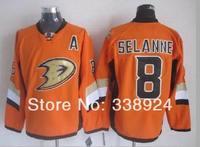 2014 Stadium Series Jerseys Anaheim Ducks #8 Teemu Selanne Orange Mens Ice Hockey Jersey Accept Mix Order