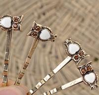 T48 Vintage animal shape hairpin owl  clip hair hair clips for hair wedding tiara hair accessories