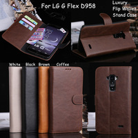 For LG D958 Wallent Flip Stand Luxury Case Cover G flex 2014 new mobile phone shell lg g d958 Slim Crazy Horse  Leather