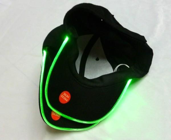 10pcs/lot New Design LED Light Hat Party Hats Boys and Grils Baseball Caps Fashion 3Colors Adjustment SIZE Flash LED Hat(China (Mainland))
