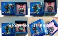 Free Shipping 10Pcs/lot New style Cartoon frozen Wristwatch Kids Lovely Fashion Watch Children Watch With Gift Box