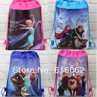 Free shipping 4 design 1pcs/LOT frozen  Cartoon Drawstring Backpack Bag ,Children Kids Bag 34X27CM,schoobag,party gift