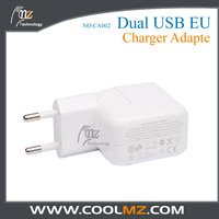 Free shipping Dual USB Travel Power 2.1 A Wall Charger Adapter Dual USB Charger EU Plug for iPhone 5 iPad for Galaxy S3 S4 Note3