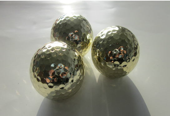 Free shipping Two-piece golden golf ball for USD2.50 Piece(China (Mainland))