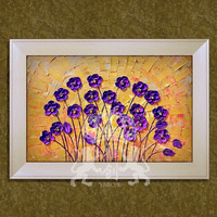 Fashion paintings hand painting  decorative flower abstract  quality box art interior