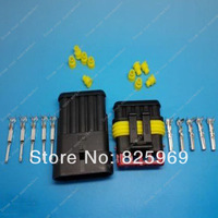 Free Shipping 1sets=25pcs 5 Pin/way HID Waterproof Electrical connector kit (Housing+Terminal+grommet+Other) for car boat ect
