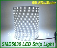 100m High brightness Led Flexible Strip Light 300led 60LED/M IP20 12V 14.4W/M SMD5630 Warm White/White 5m/reel Holiday Lamp