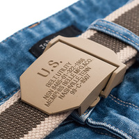 Strap male pida canvas belt lengthen us thick personality smooth buckle yaodai