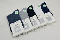 High Quality Bamboo Fiber men Crew Socks, Pure Cotton Striped men socks.10pairs/lot of wholesale L15-193