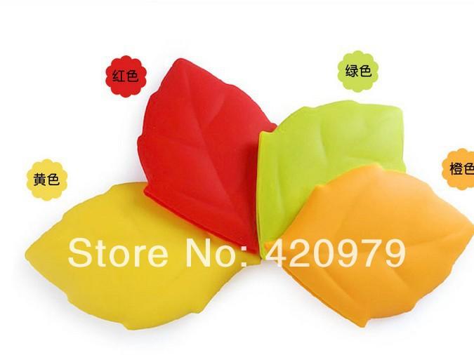 Doce cor criativo bordo silicone forma de folha gargarejo copo para o saco de água potável protable como acessórios de viagem.(China (Mainland))