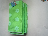 New products!!! 100% microfiber carved tea towel at factory price