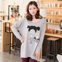 2014 spring women's m plus size basic shirt long design t-shirt ilike ilikez4162 long-sleeve