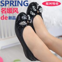 plus size(34-42) women genuine leather flat shoes 2014 newest fashion female casual single shoes woman flats