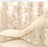 women pumps 2014 NEW ARRIVAL low heel wedding shoes low heel white lace bridal wedding shoes pump