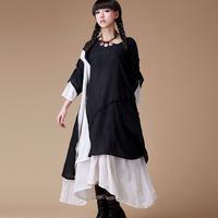 FREE SHIPPING Events ii original design trend women's national 2014 summer long-sleeve dress