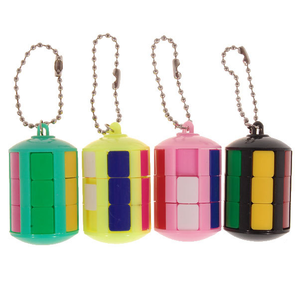 2014 Brand New Smart Tower Magic Cube Keychain (Assorted Color) Puzzle Educational Toy Special Toys(China (Mainland))
