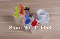 Free Shipping 2-Holes Mouse Shape Frozen Ice Cream Tools Tubs Popsicle Molds DIY Lolly Maker Ice Cube Tray