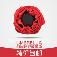 Umbrella red umbrella bride folding male women's red umbrella