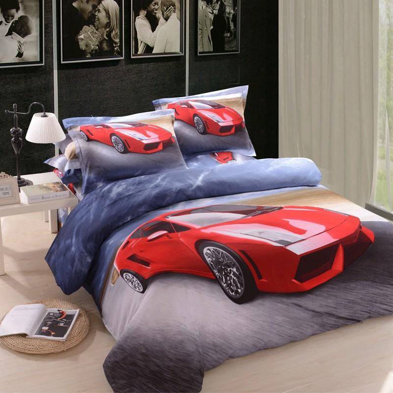 Livraison gratuite de voitures de luxe en coton housse de - Housse de couette voiture de course ...