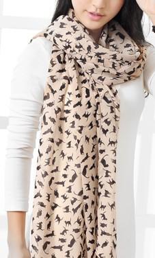 041602 шарф большой печати шифон шарф