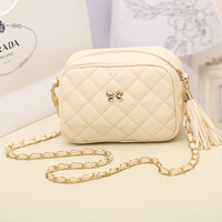2014 women's handbag candy color plaid chain bag small bag clutch one shoulder cross-body bags female
