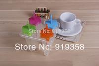 Hot 4pcs/set Conicalshape Popsicle box DIY Ice Cream Tool Ice Cube Tray Mold Ice Cream Maker  Ice Cream Tubs(ICM-042)