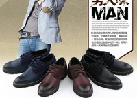 Wholesale Promotion 2014 new men's England retro fashion genuine leather shoes,special offer.free shipping,NT044