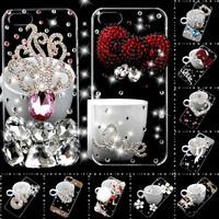 3D Rhinestone Luxurious Bling Diamond Crystal Hard Case CoveForSamsung Galaxy S4 mini i9190 Free shipping