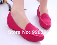 Free shipping ! European and American style women Peas shoes / nubuck leather flat shoes