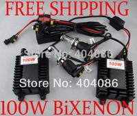 100W HID Bi Xenon Conversion kits xenon light bulb 9004 9007 H4 H13 9004-3 9007-3 H4-3 H13-3 Plug and Play 5000K/ FREE SHIPPING