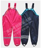 Free Shipping- wholesale Topolino boys girls waterproof, windproof overalls,  kids waterproof pants, size 98 to 128(MOQ: 6pcs)